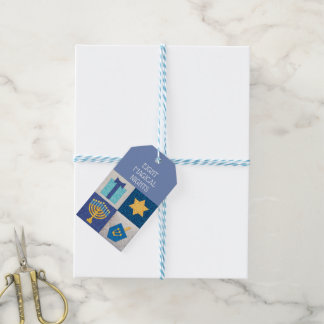 Hanukkah Quilt 8 Magical Days Gift Tags