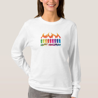 Hanukkah Rainbow Menorah T-Shirt