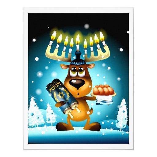 Hanukkah Reindeer Personalized Announcement