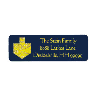"Hanukkah Return Labels ""Dreidel Pinwheel"""