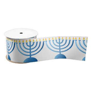 Hanukkah Ribbon Satin Ribbon