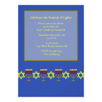 Hanukkah Ribbons Invitation
