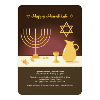 Hanukkah Setting Invitation