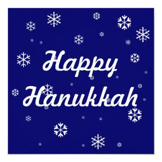 Hanukkah Snowflakes 13 Cm X 13 Cm Square Invitation Card