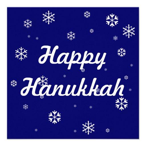 Hanukkah Snowflakes Custom Announcement