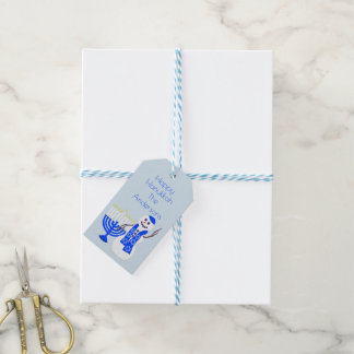 Hanukkah Snowman Cute Design For Chrismukkah Too Gift Tags