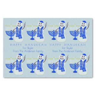 Hanukkah Snowman Or Chrismukkah Blended Families Tissue Paper