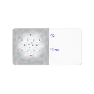 Hanukkah Star and Snowflakes Gray Label