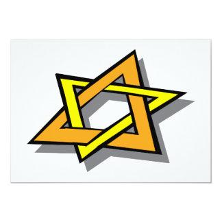 Hanukkah Star Invitations
