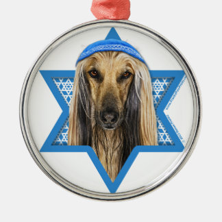 Hanukkah Star of David - Afghan Silver-Colored Round Decoration