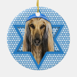 Hanukkah Star of David - Afghan Christmas Tree Ornament