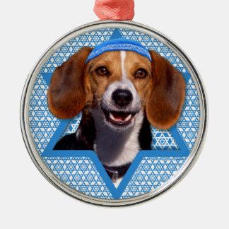 Hanukkah Star of David - Beagle Christmas Tree Ornament