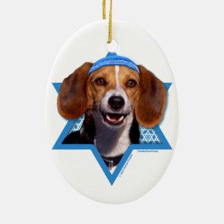 Hanukkah Star of David - Beagle Ceramic Oval Decoration