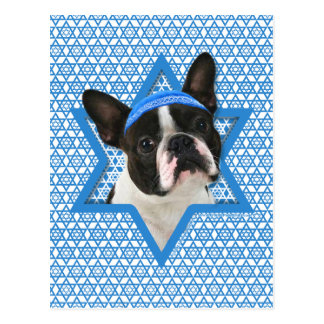 Hanukkah Star of David - Boston Terrier Postcard