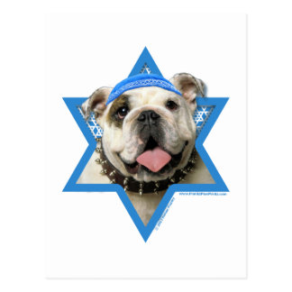 Hanukkah Star of David - Bulldog Postcard