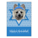 Hanukkah Star of David - Cairn Terrier - Teddy Bea Note Card