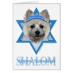 Hanukkah Star of David - Cairn Terrier  Teddy Bear Greeting Card