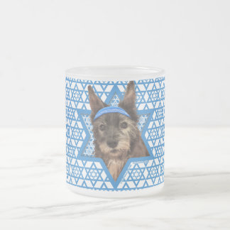 Hanukkah Star of David - Cairn Terrier - Trixie Frosted Glass Coffee Mug