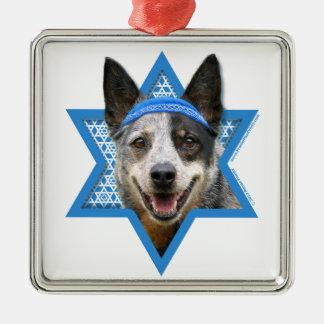 Hanukkah Star of David - Cattle Dog Christmas Tree Ornament