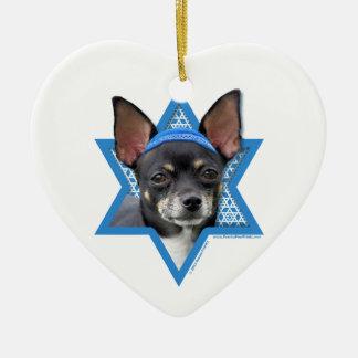 Hanukkah Star of David - Chihuahua Christmas Ornaments