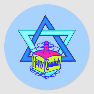 Hanukkah Star of David Classic Round Sticker