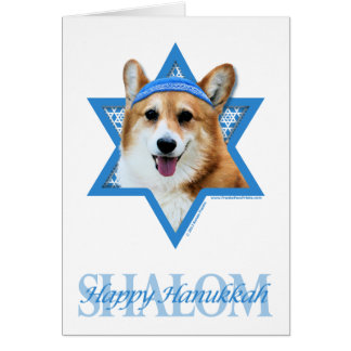 Hanukkah Star of David - Corgi - Owen Card