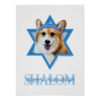 Hanukkah Star of David - Corgi - Owen Poster