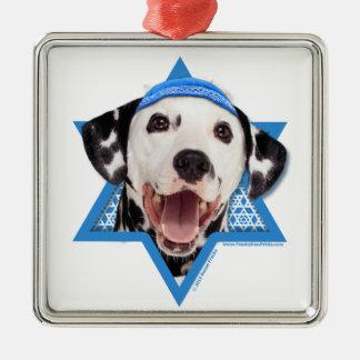 Hanukkah Star of David - Dalmatian Christmas Ornaments