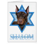 Hanukkah Star of David - Doberman - Rocky