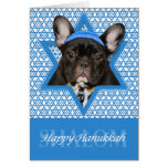Hanukkah Star of David - French Bulldog - Teal