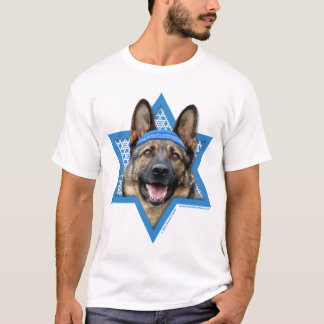 Hanukkah Star of David - German Shepherd T-Shirt