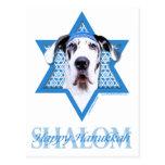 Hanukkah Star of David - Great Dane - Harlequin Postcards