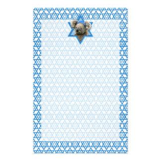 Hanukkah Star of David - Koala Bear Stationery Design