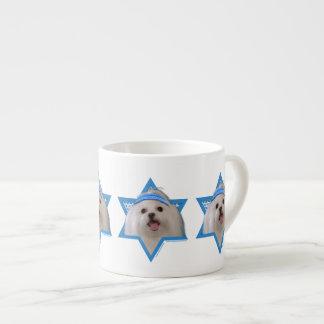 Hanukkah Star of David - Maltese Espresso Cup