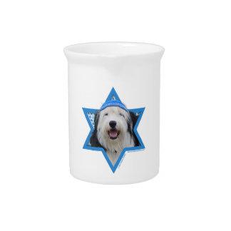 Hanukkah Star of David - Old English Sheepdog Pitcher