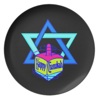 Hanukkah Star of David Plate
