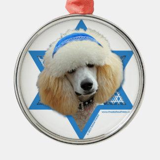 Hanukkah Star of David - Poodle - Apricot Ornaments