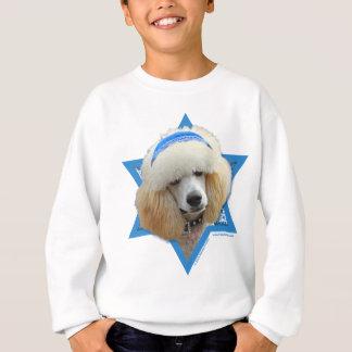 Hanukkah Star of David - Poodle - Apricot Sweatshirt