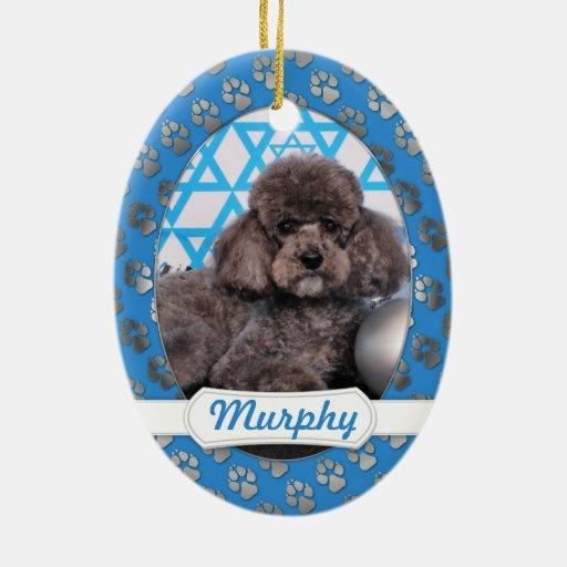Hanukkah Star of David - Poodle - Murphy Ornament