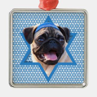 Hanukkah Star of David - Pug Ornaments