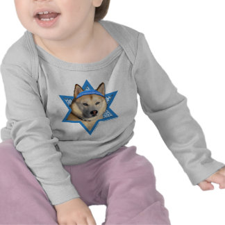 Hanukkah Star of David - Siberian Husky - Copper Shirt