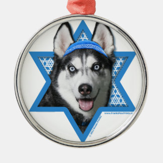 Hanukkah Star of David - Siberian Husky Christmas Tree Ornament