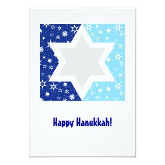 Hanukkah Star of David Snowflake 13 Cm X 18 Cm Invitation Card