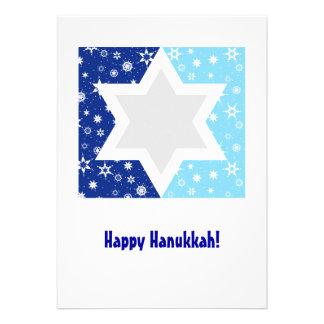 Hanukkah Star of David Snowflake Personalized Announcements
