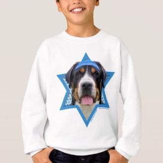 Hanukkah Star of David - Swiss Mountain Dog Sweatshirt