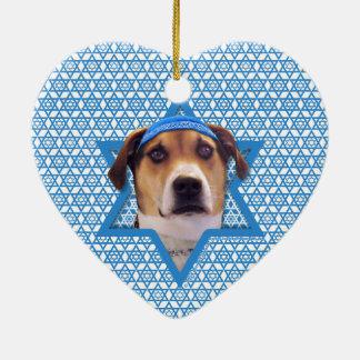 Hanukkah Star of David - Treeing Walker Coonhound Christmas Ornament