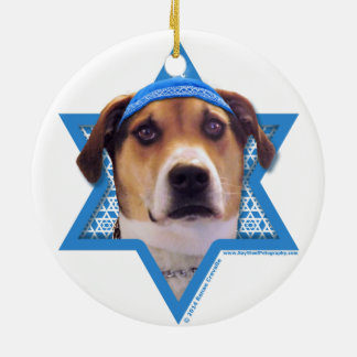Hanukkah Star of David - Treeing Walker Coonhound Christmas Tree Ornaments