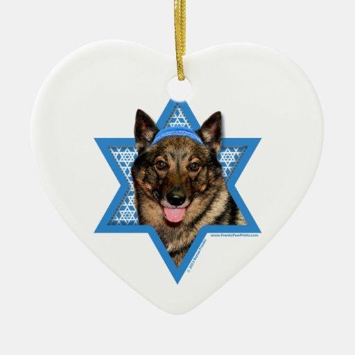 Hanukkah Star of David - Vallhund - Bear Ornaments