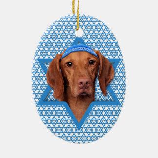 Hanukkah Star of David - Vizsla - Reagan Christmas Tree Ornaments