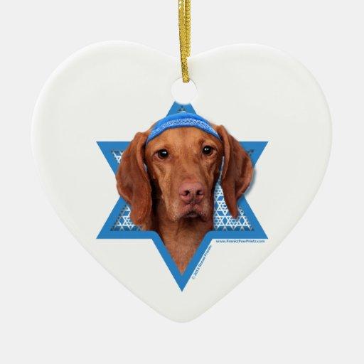 Hanukkah Star of David - Vizsla - Reagan Christmas Ornaments